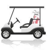Golf car vector illustration — Stock Vector