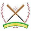 Baseball banner emblem vector illustration — Stock Vector