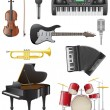Stock Vector: Set icons of musical instruments vector illustration