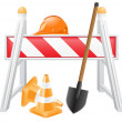 Objects for road works vector illustration — Stock Vector #26253195