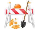 Objects for road works vector illustration — Stock Vector