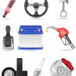 Set icons of car parts vector illustration — Stock Vector #26465541