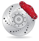 Car brake caliper vector illustration — Stock Vector