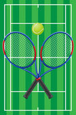 Tennis vector — Stock Vector