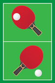 Table tennis ping pong vector — Vecteur