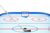 Hockey stadium vector illustration — Stock Vector