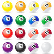 Постер, плакат: Billiards balls vector illustration