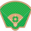 Baseball field vector illustration — Stock Vector