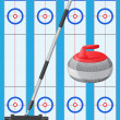 Curling sport game — Stok Vektör