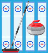 Curling sport game — Stock Vector