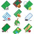 Set icons sport vector illustration — Stock Vector
