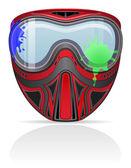 Paintball masky vektorové ilustrace — Stock vektor