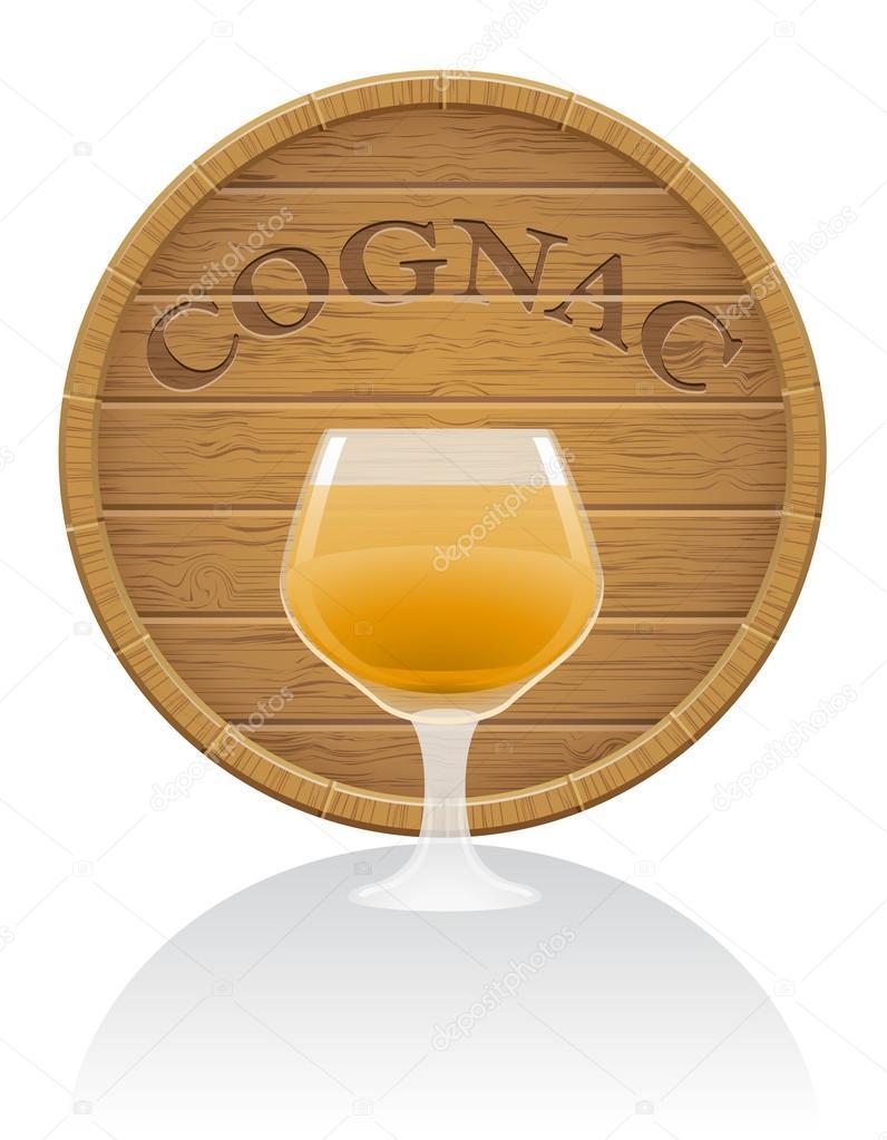 Barrique de cognac en bois et verre vector illustration eps10  ~ Barrique En Bois