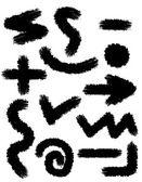 черный аннотация следы мазки кистью для дизайна вектор illustr — Cтоковый вектор