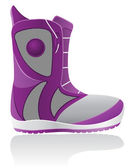 Boot for snowboarding vector illustration — Vecteur