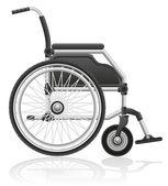 Wheelchair vector illustration — Stock Vector