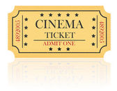 Cinema ticket vector illustration — Stock Vector