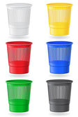Dustbin colors vector illustration — Stock Vector