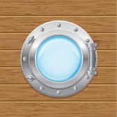 Boat porthole vector illustration — Stock Vector