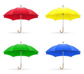 Colors umbrellas vector illustration — Stock Vector