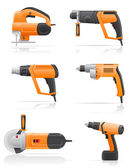 Electric tools set icons vector illustration — Stock Vector