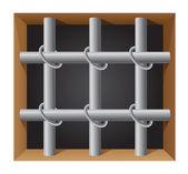Prison bar vector illustration — Stock Vector