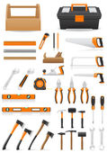 Set tools icons vector illustration — Stock Vector