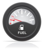 Fuel level indicator vector illustration — Stock Vector