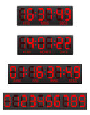 Scoreboard digital countdown timer vector illustration — Stock Vector