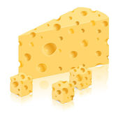 Piece of cheese vector illustration — Stock Vector