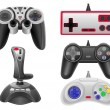 Set icons joysticks for gaming consoles vector illustration EPS — Stock Vector #51340053