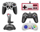 Set icons joysticks for gaming consoles vector illustration EPS  — Stock Vector