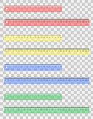 Transparent colored ruler vector illustration — Stok Vektör