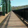 Wooden bridge walkway - Stock Photo
