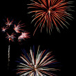 Colorful fireworks against a black sky — Stock Photo #2039780