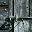 Stock Photo: Old iron door latch