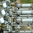 Stock Photo: Electric transformer substation