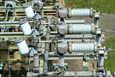 Electric transformer substation — Stock Photo