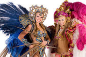 Carnival dancers — Stock Photo