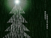 Virtual Christmas Background — Stock Photo