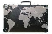 Suitcase globetrotter — Stock Photo