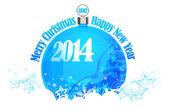 Prettige kerstdagen en gelukkig nieuwjaar 2014 — Stockfoto