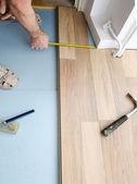 地板安装 — 图库照片