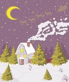 Christmas snow — Stock Vector