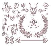 Elements calligraphic design set — Stock Vector