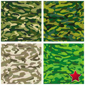 Patterns military camouflage set — Stock Vector