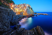 Beautiful evening in Manarola — Stock Photo