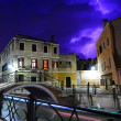 Heavy thunderstorm in Venice — Stock Photo