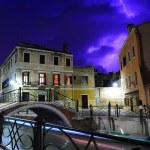 Heavy thunderstorm in Venice — Stock Photo