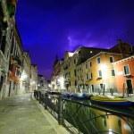 Dramatic thunderstorm in Venice — Stock Photo